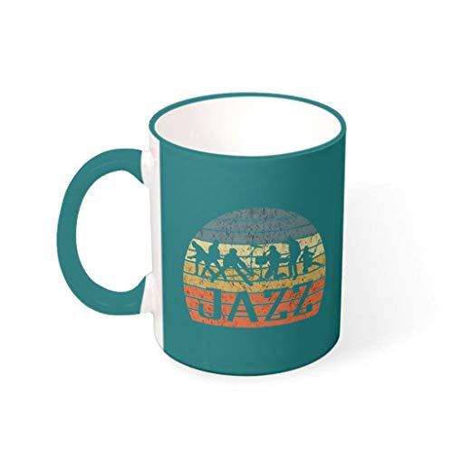 Zaclay Taza de cereales con asa, cerámica, regalo para hombre, traje para oficina, 330 ml