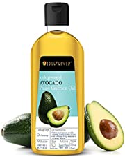 Avocado Oil by Soulflower, Organic and Coldpressed, Pure and Natural Undiluted, Vegan, For Dry Skin & Conditioning, Detangler, Anti-breakage, 6.77 Fl.Oz, BONUS Nozzle