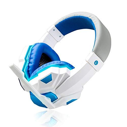 WHSS Gaming Headset USB For La Conexión De Cable De Sonido Estéreo Gamer Cancelación De Ruido Auriculares For El Teléfono De La Computadora Xbox One con Micrófono Led (Color : White)