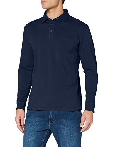 Pioneer Polo Shirt Longsleeve Polohemd, Herren, Blau XXXL