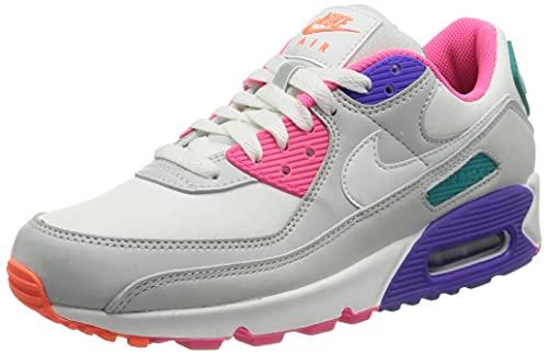 Nike Wmns Air MAX 90, Zapatillas Deportivas Mujer, White Multi, 40.5 EU