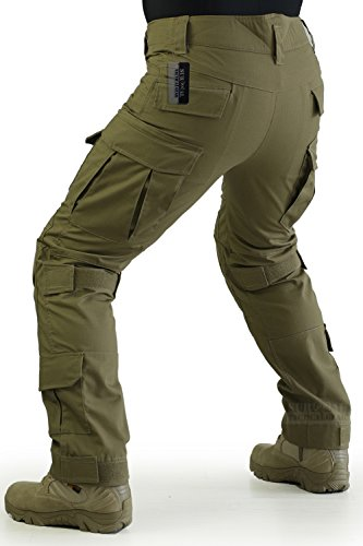 ZAPT Tactical Pants with Knee Pads Airsoft Camping Hiking Hunting BDU Ripstop Combat Pants 13 Kinds Army Camo Uniform Military Trousers (Coyote Brown, L36)