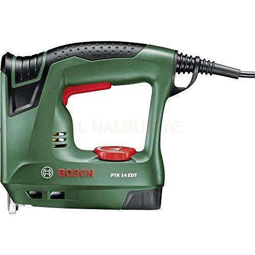 Bosch Elektrotacker PTK 14 EDT, 1000 Klammern, Karton (30 min-1 Schläge, Nägel: 14 mm, 1,1 kg)