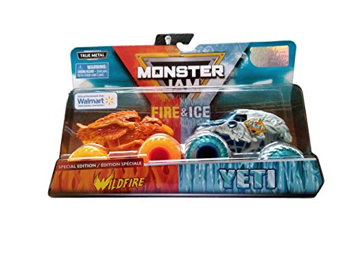 MJ 2019 Monster Jam Fire & Ice Wildfire and Yeti Special Edition