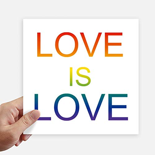 DIYthinker Lgbt Regenboog Vlag Liefde Is Liefde Vierkante Stickers 20Cm Wandkoffer Laptop Motobike Decal 4 Stks
