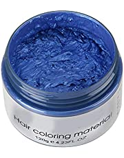 JKHK Hair Color Wax, Unisex DIY Temporary Hairstyle Cream 120g, Hair Pomades Hairstyle Wax for Men and Women - 8 Colors