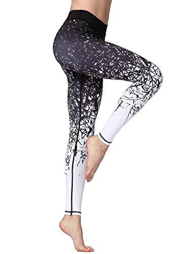 FLYILY Mallas Deportivas Mujer Pantalones impreso Leggings Deportes para Running Yoga...