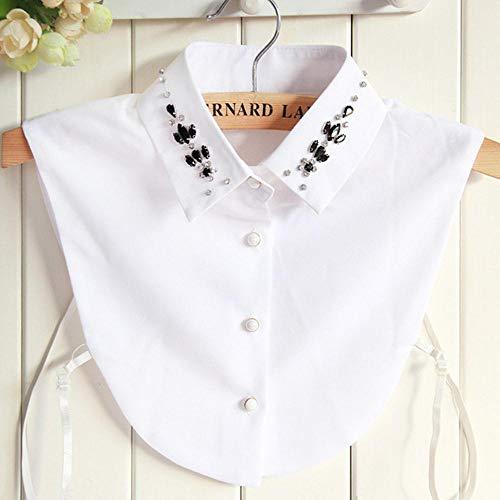 0021 SM Damen-Shirt, Chiffon, mit Schleife, abnehmbare Kragen, Übergröße, XL,...