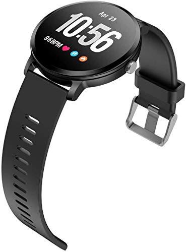 JSL Reloj inteligente 1.3 pulgadas pantalla a color multi-deportes información recordatorio pulsera multifunción-correa de silicona negra