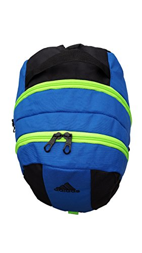 Adidas Boy`s Journal Backpack (One Size, Blue (B161) / Black/Solar Green)