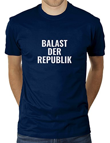 Balast der Republik - Im Land der Richter, Dichter und Aktenvernichter - Herren T-Shirt von KaterLikoli, Gr. M, French Navy