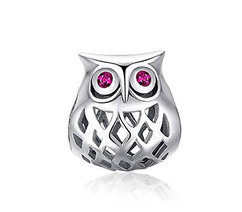 EVESCITY - Abalorio de plata de ley con piedras natales para pulseras y collares Pandora y similares