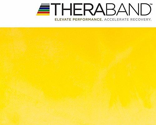 Thera-Band Fascia elastica per allenamento, circa 3 m lunga, con libro di esercizi incluso 3m di lunghezza., yellow, 3 m