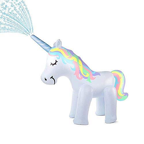 penban Unicorn Sprinkler Inflatable Water Toys for Outside, Kids Water Sprinklers for Backyard,Fun Sprinkler for Children(Unicorn Sprinkler 5.3 ft High)