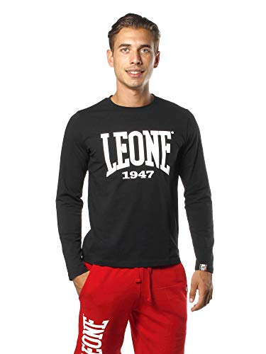 Leone - Leone 1947 Apparel Camiseta de Manga Larga para Hombre - Negro (9), S.