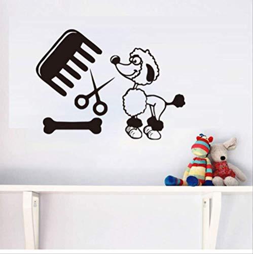 stickerzb Salon pour Simba De Compagnie Chien De Compagnie Wal Murs Autocollant Vinyle Chambre À Coucher Art De Murs Autocollant Cadeau Enfants Décor De Maison 59x44cm