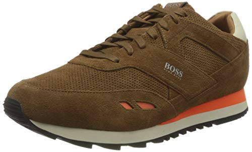 BOSS Herren Parkour_Runn_sdpf2 Sneaker, Medium Brown210, 46 EU