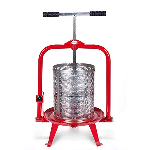 14 Liter (3.75 Gallon) Fruit Press - New Larger Stainless Pressing Plate - Cider, Wine, Grape, Apple Press, For Apple Cider, Wine and Juice Making, Stainless Steel, Choose Size by Montimax