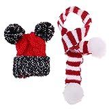 Baoblaze 2-teilig Puppe Weihnachten Mütze mit Strickschal Set Winter Outfit Zubehör Für 1/6...