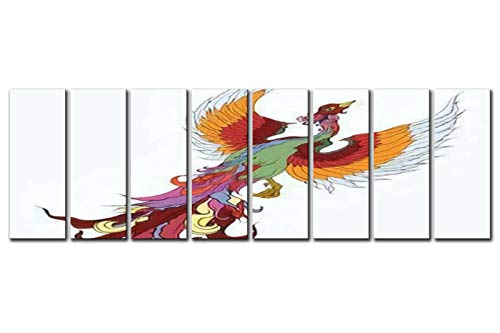 Decorative Body Pillow Hand Drawn Chinese Peacock Tattoo Asian Phoenix fire Bird Tattoo Full Body Pillow for Adults Ultra Soft Long Bed Sleeping Pillow for Side Sleepers with Zipper, 20x54 inch