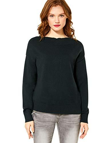 Street One Damen 301352 Pullover, Endless Green, 44