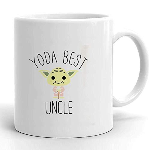 YODA - Taza de café con el mejor tío, divertida taza de café para tío, taza de café para el tío, la mejor taza de Yoda, el mejor regalo para el tío