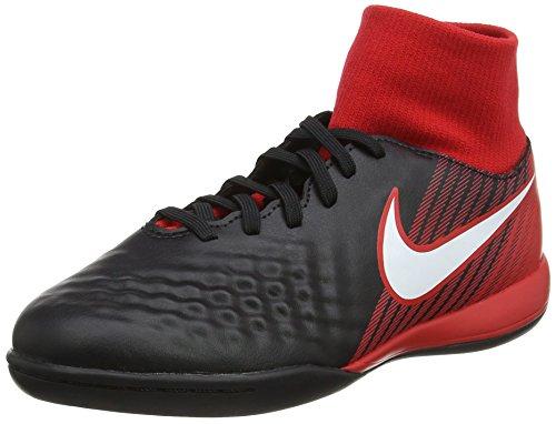 Nike Jr Magistax Onda II DF IC, Botas de fútbol Unisex niño, Rojo (Negro/Rojo Universitario/Carmesí Brillante/Blanco 061), 37.5 EU