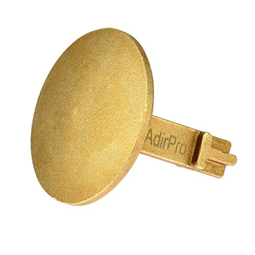 AdirPro Survey Markers – Durable Solid Brass & Low Profile Permanent Boundary Marking Caps/Stakes – for Surveying & Measuring Property & Land Area (2 Inch, Domed)