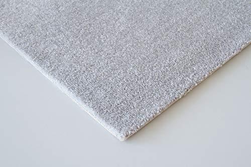 Steffensmeier Teppichboden Genua Meterware   Auslegware für Kinderzimmer Wohnzimmer Schlafzimmer   Silber, Größe: 300x300 cm