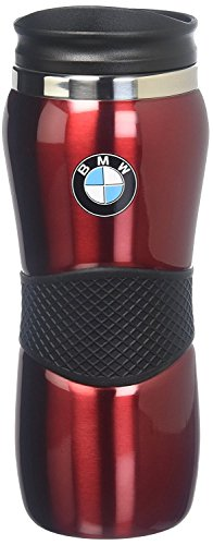 BMW Stainless Steel Gripper Travel Mug - Red 15oz