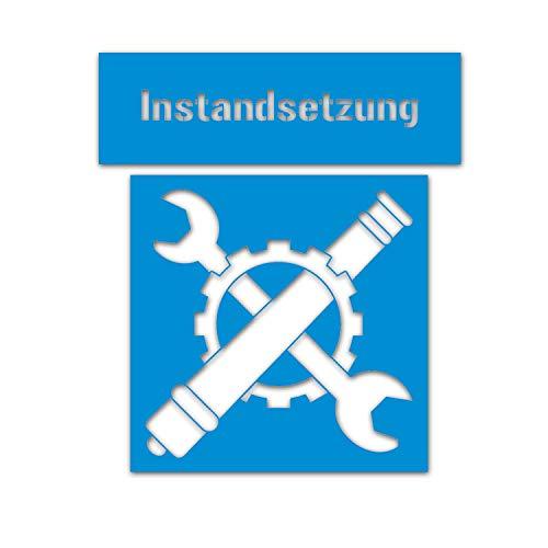 Reparatie verfsjablonen sticker stencil sjabloon Inst 45x42cm A5305