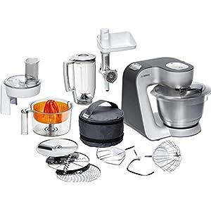 Bosch MUM56340 – Robot de cocina, 900 W, capacidad de 3,9 l, color negro y plata