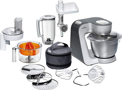 Bosch MUM56340 - Robot de cocina, 900 W, capacidad de 3,9 l, color negro y plata