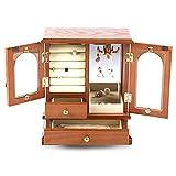 HJSP Caja de joyería de Madera Collar Vintage Anillo Pendientes Caja de joyería Registros Color Creativo Caja de...