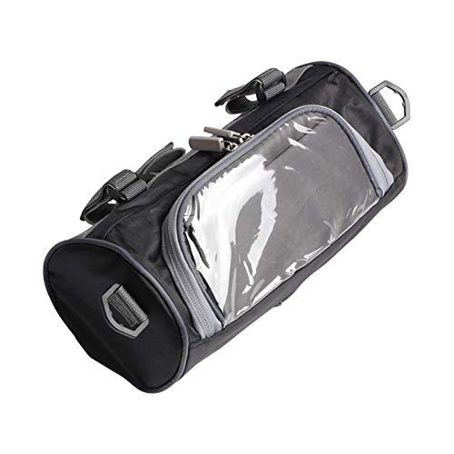 WOTEG - Bolsa de almacenamiento para moto, bolsa de almacenamiento para cabeza de moto, impermeable, bolsa de almacenamiento con película táctil transparente, correa desmontable