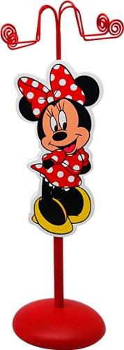 Joy Toy 91005 - Disney Minnie Metall-Schmuckhalter mit Figur aus Holz, Geschenkpackung, 11 x 11 x 28 cm