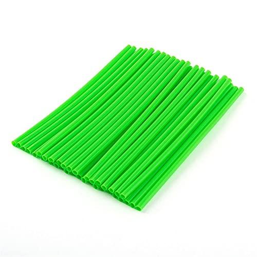 36pcs / Pack Colorido Rueda llanta llanta Wraps Wraps Cubiertas para la decoración de la decoración de la DIREDBICE DE Motocross Universal 17cm molduras Ornamentales (Color : Green)