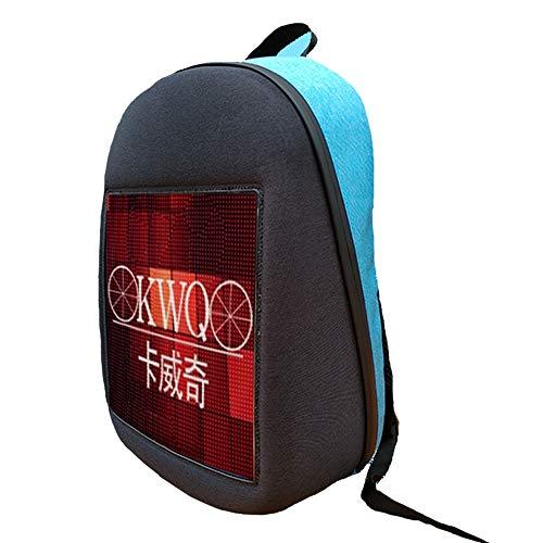 GHL Intelligente LED-beiläufige Daypacks,die Rucksack mit dynamischer Bildschirm-APP annoncieren redigieren wasserdichter Sport-und im Freienrucksack für Jungen-Mädchen,zum der Jugend zu Zeigen,Blue