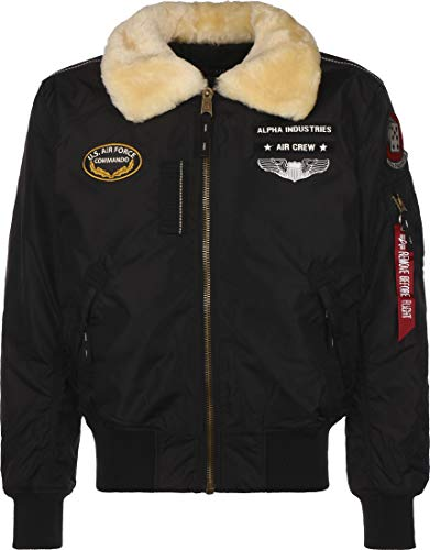 Alpha Industries Injector III Air Force Jacke Schwarz XL