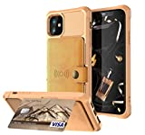 FQIAO US Leather iphone 11 case 3 Card Slots(ID card,credit