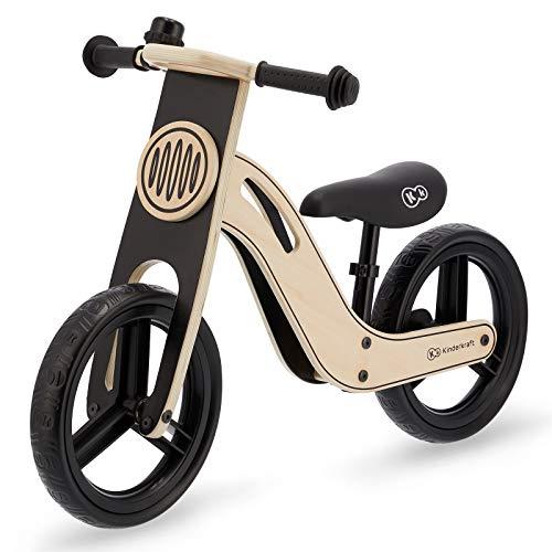 kk Kinderkraft Bicicleta sin Pedales UNIQ, Ultraligera, de Madera, 2+ Años, Negro, Unisex-Baby, 83 x 40 x 54 cm