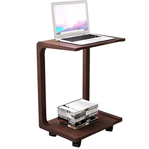 OverBed Tisch Laptop Schreibtisch Breite Werkbank Leichte Mehrzweck-Computer-Sofa Beistelltisch Krankenhaus Home Lesetisch Braun