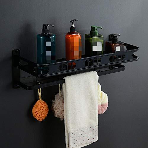 Espacio de aluminio Baño Toalla Rack Doble Luz Moderno Símbolo simple Baño Hardware sanitario Accesorios-5