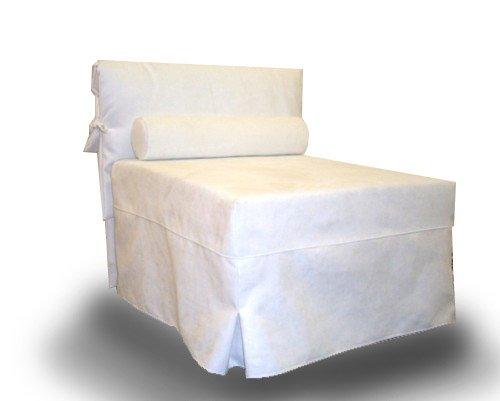 Ponti Divani Sillon Cama, Cama Individual Plegable, Listones ortopédicos, colchón Incluido! Tapicería de Tela .Producto Made IN Italy!!!