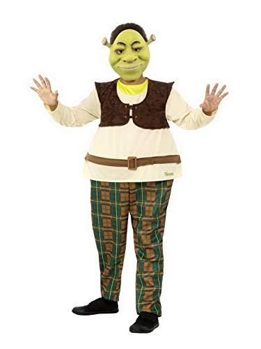 Confettery – Costume per Bambini Shrek Deluxe Tuta e Maschera, Perfetto per Carnevale, Carnevale e Notte, 104-152, Beige