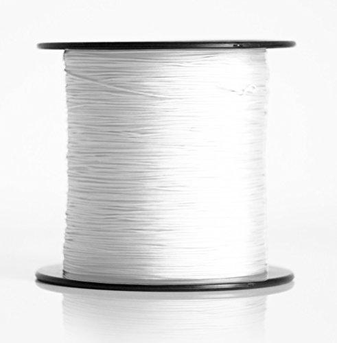 Schnur für Plissee, Rollo, Jalousette 0,8 mm Spannschnur Plisseeschnur zubehör (Weiß, 20 Meter)