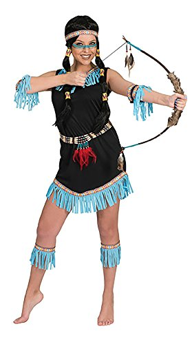 Luxuspiraten - Buntes Indianer Kostüm für Damen, L, Mehrfarbig