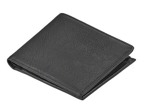 Sonnenleder Geldbörse Leder Geldbeutel Portemonnaie Trave für Damen und Herren schwarz