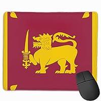 スリランカの国旗 マウスパッド ノンスリップ 防水 高級感 習慣 パターン印刷 ゲーミング ホビー 事務 おしゃれ 学習