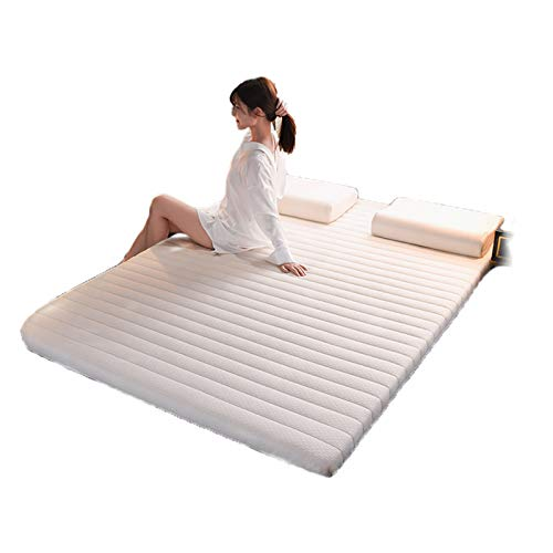 Colchón de futón japonés, plegable, de látex natural, colchón de tatami, colchón de futón, suave y grueso, para dormitorio de estudiante, 90 x 190 cm